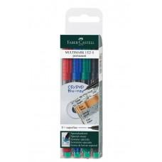 Faber Castell Multimark Permanent Marker 4's