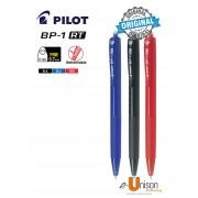 Pilot BP-1 RT Ball Pen (Fine/Medium) (Black/Blue/Red)