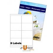 Abba Laserjet Label 99.1mm x 68mm A4