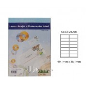 Abba Laserjet Label 99.1mm x 38.1mm A4