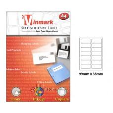 Vinmark Laserjet Label 99mm x 38mm A4
