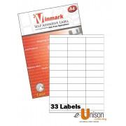 Vinmark Laserjet Label 70mm x 25mm A4