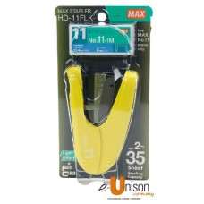 MAX HD-11FLK Flat-Clinch Stapler + Staples No.11-1M