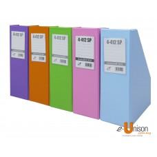 "PVC Magazine Box File 4"" (Fancy Colours)"