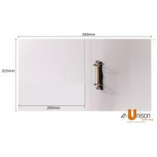 PVC 2D Ring File 25mm A4 White