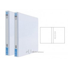 PVC 3D Ring File 25mm A4 White