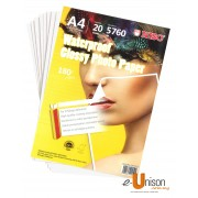 Niso Waterproof Glossy Photo Paper A4 180gsm 20's