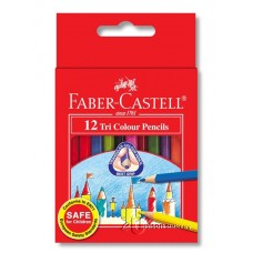 Faber Castell Tri-Grip Coloured Pencil 12's (S)
