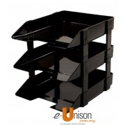 Plastic 3-Tier Document Tray