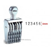 Shiny Numbering Stamp 6 digit