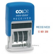 Colop S160 Self Inking Received Dater Stamp